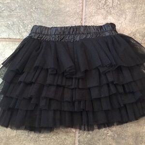 Zara girls size 4 black tutu skirt